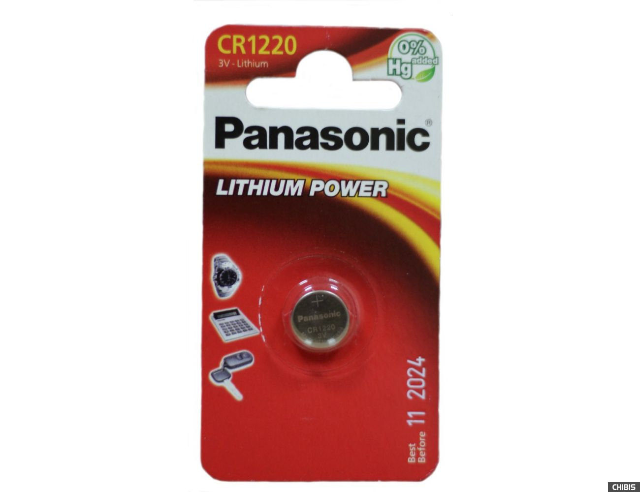 Батарейка CR1220 Panasonic 3V Литиевая 1 шт.