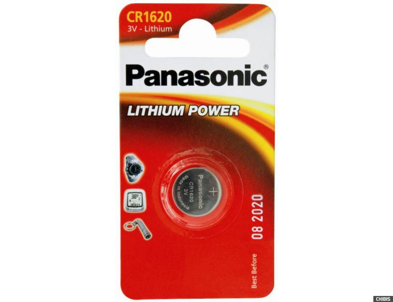 Батарейка Panasonic CR 1620 Литиевая 3V CR-1620EL/1B