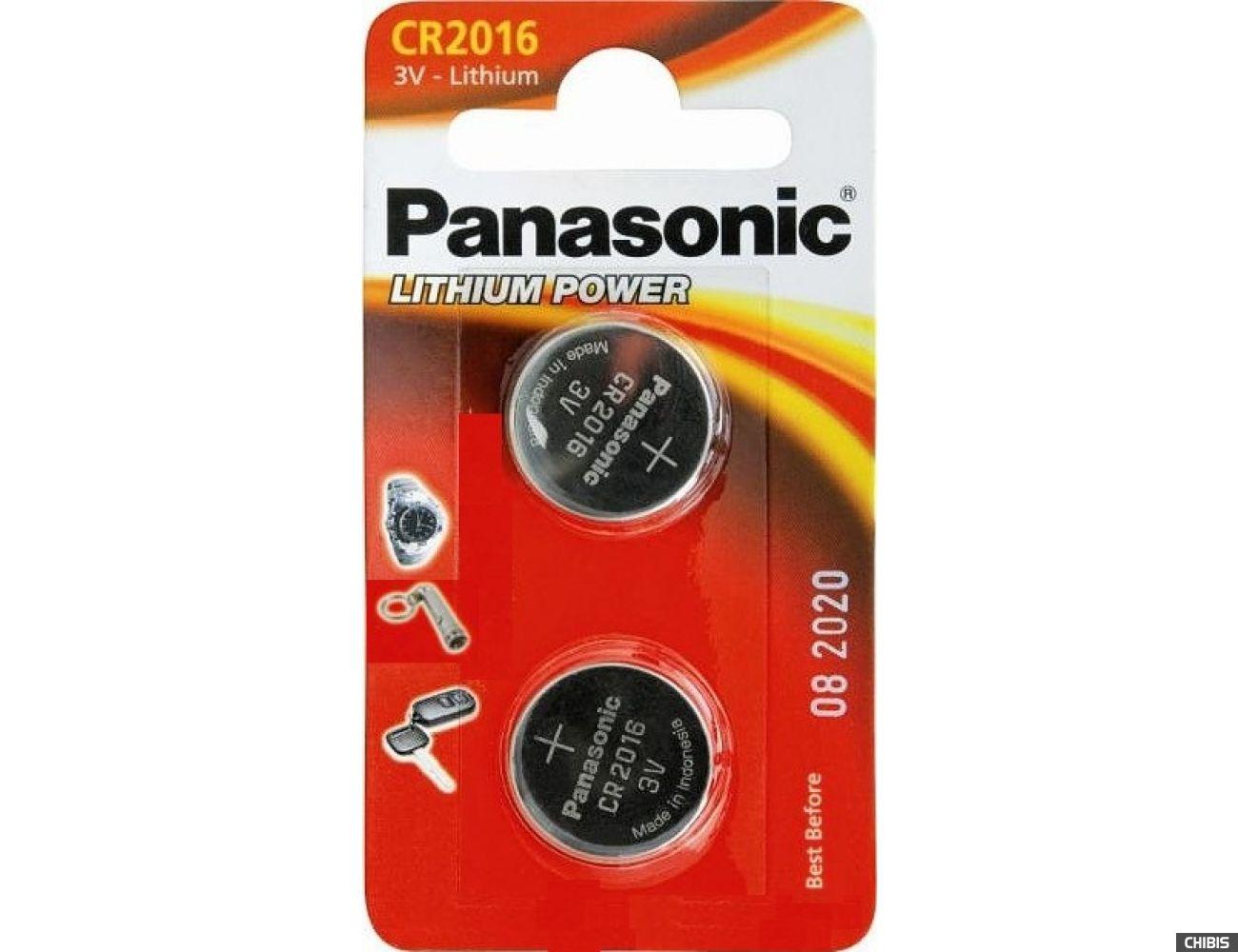 Батарейка Panasonic CR-2016EL/2B 1/2 шт