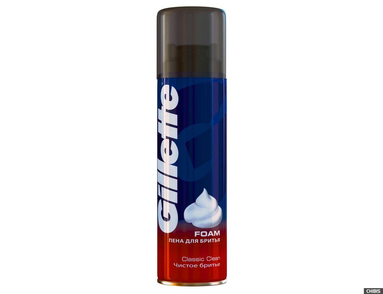 Gillette пена для бритья Classic Clean 200 мл. 3014260327682