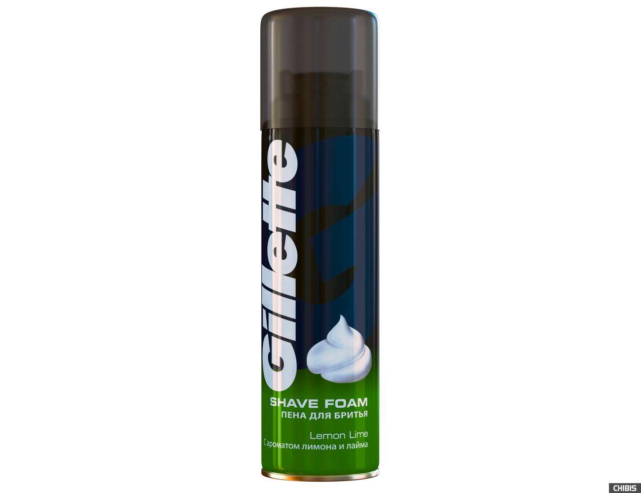 Пена для бритья Gillette с ароматом лимона и лайма