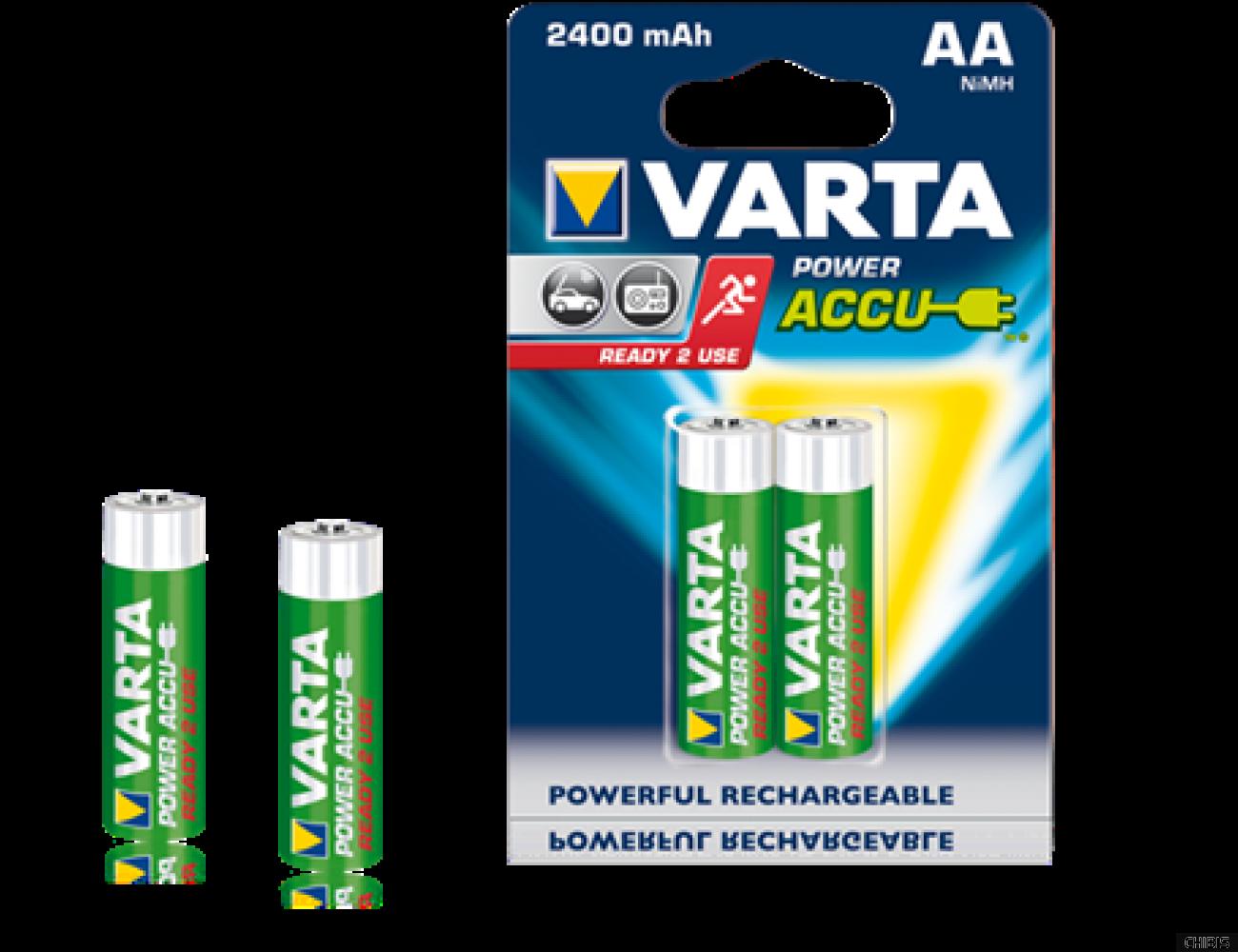Аккумуляторные батарейки АА Varta 2400 mAh PowerAccu (HR6 Ni-MH) 1 шт.