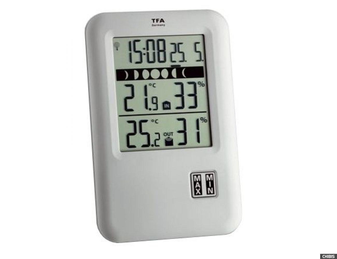 "Термогигрометр TFA ""Neo Start"" (303044.IT), 127х82х21 мм"