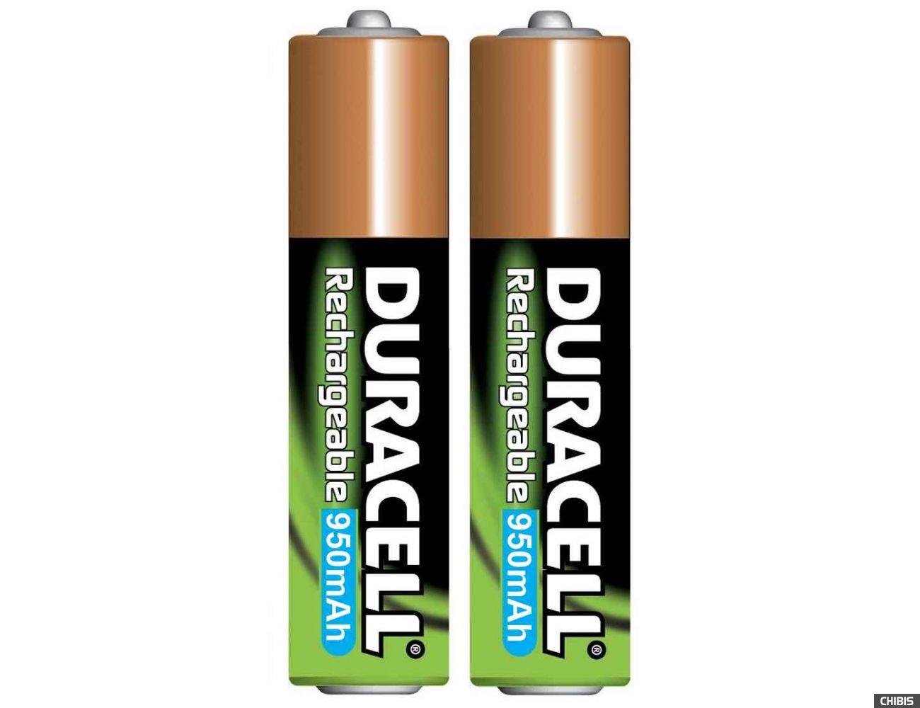 Аккумуляторные батарейки ААА Duracell 950 mAh (HR03, Ni-Mh, 1.2V) 2/2 шт. 5000394099678