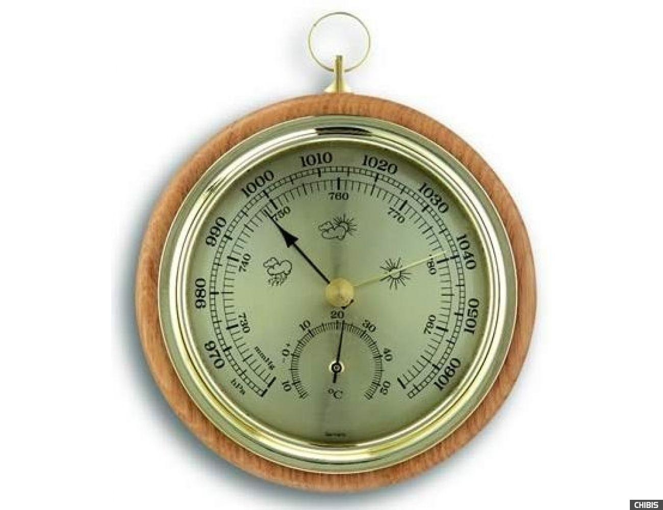 Барометр TFA (45100005B) с термометром, бук