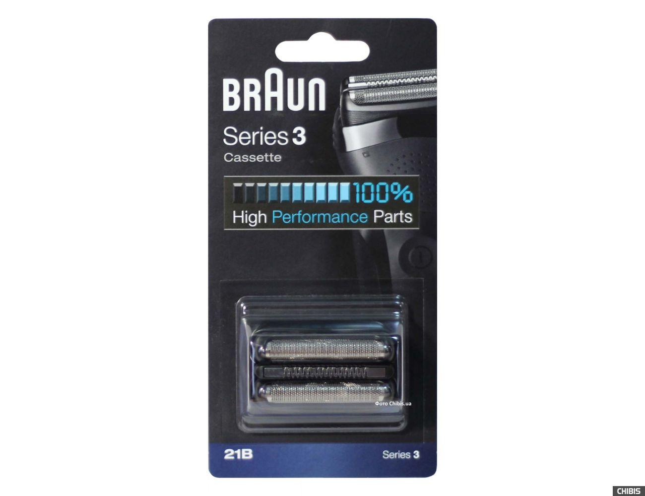 Сетка Braun 21B Series 3 черный блок с сеткой и ножом