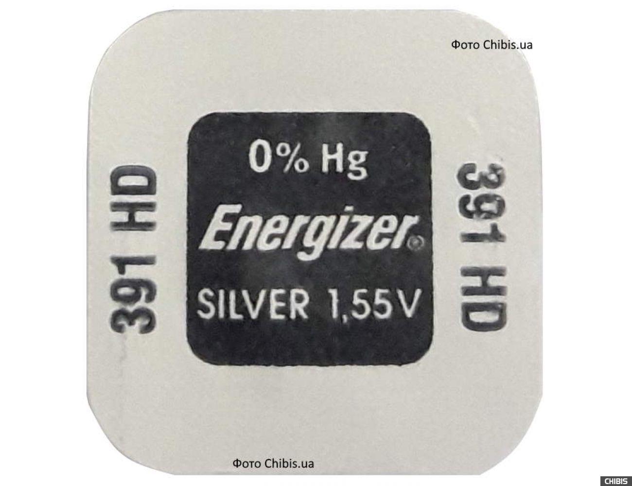 Батарейка 1120 Energizer 391 Silver Oxide 1.55V 1 шт.