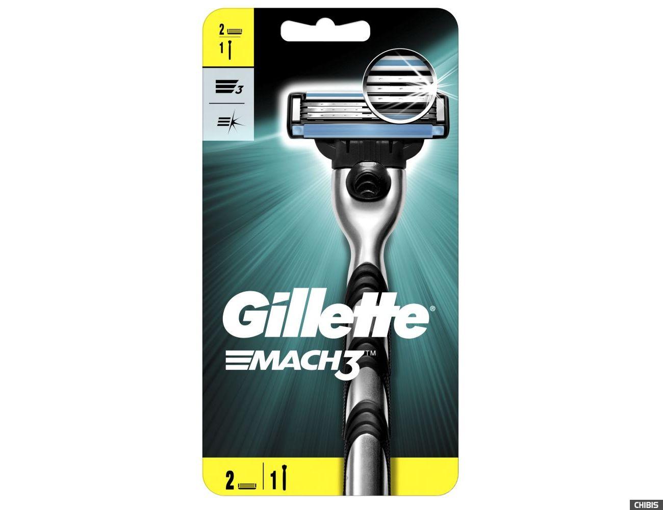 Бритва Gillette Mach3 с 2 кассетами 7702018020706