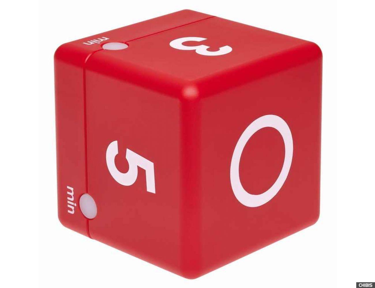 Таймер цифровой TFA куб красный 38.2039.05