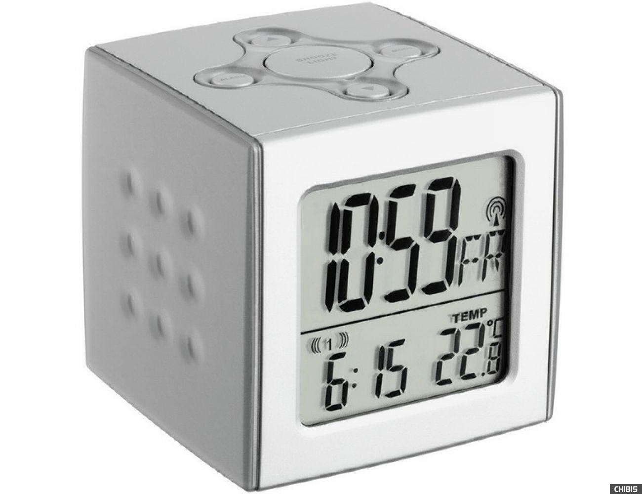 """Настольные часы TFA """"Cubo"""" (602517), 67x67x68мм"""