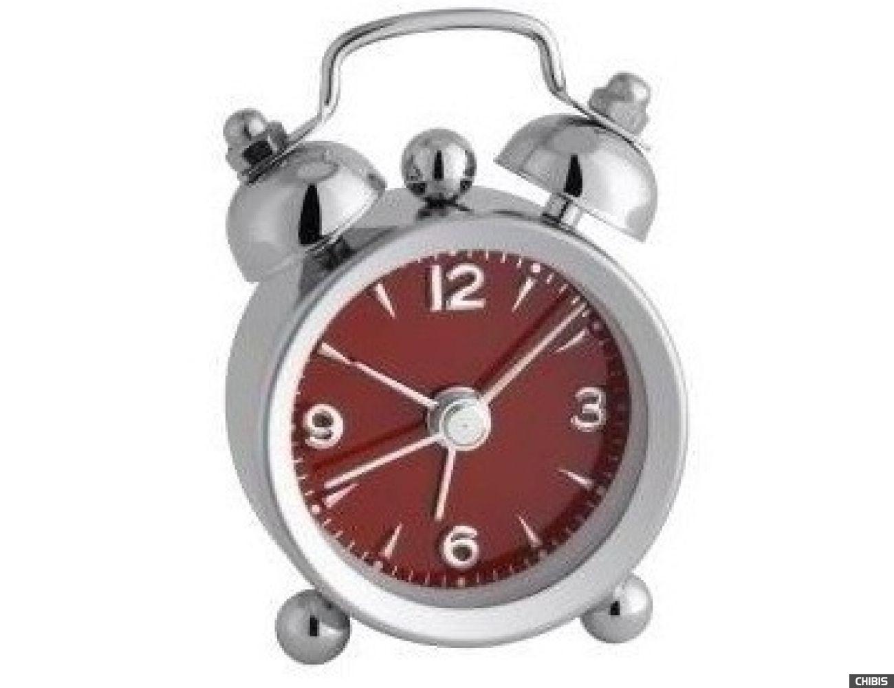 """Настольные часы TFA """"Mini-Nostalgia"""" (60100005) красный циферблат"""