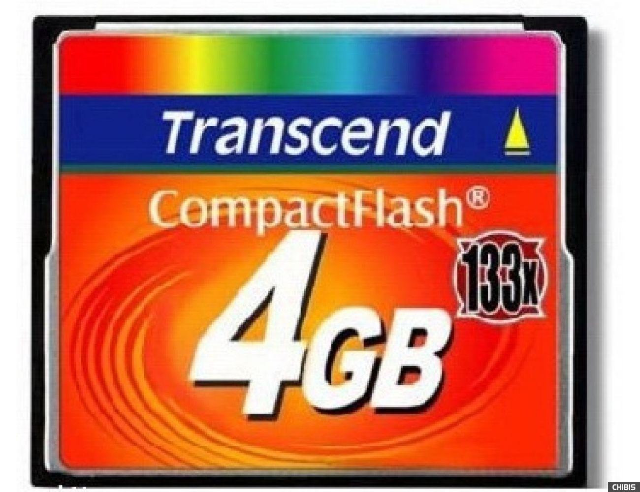 Карта памяти Transcend Compact Flash 133x 4Gb