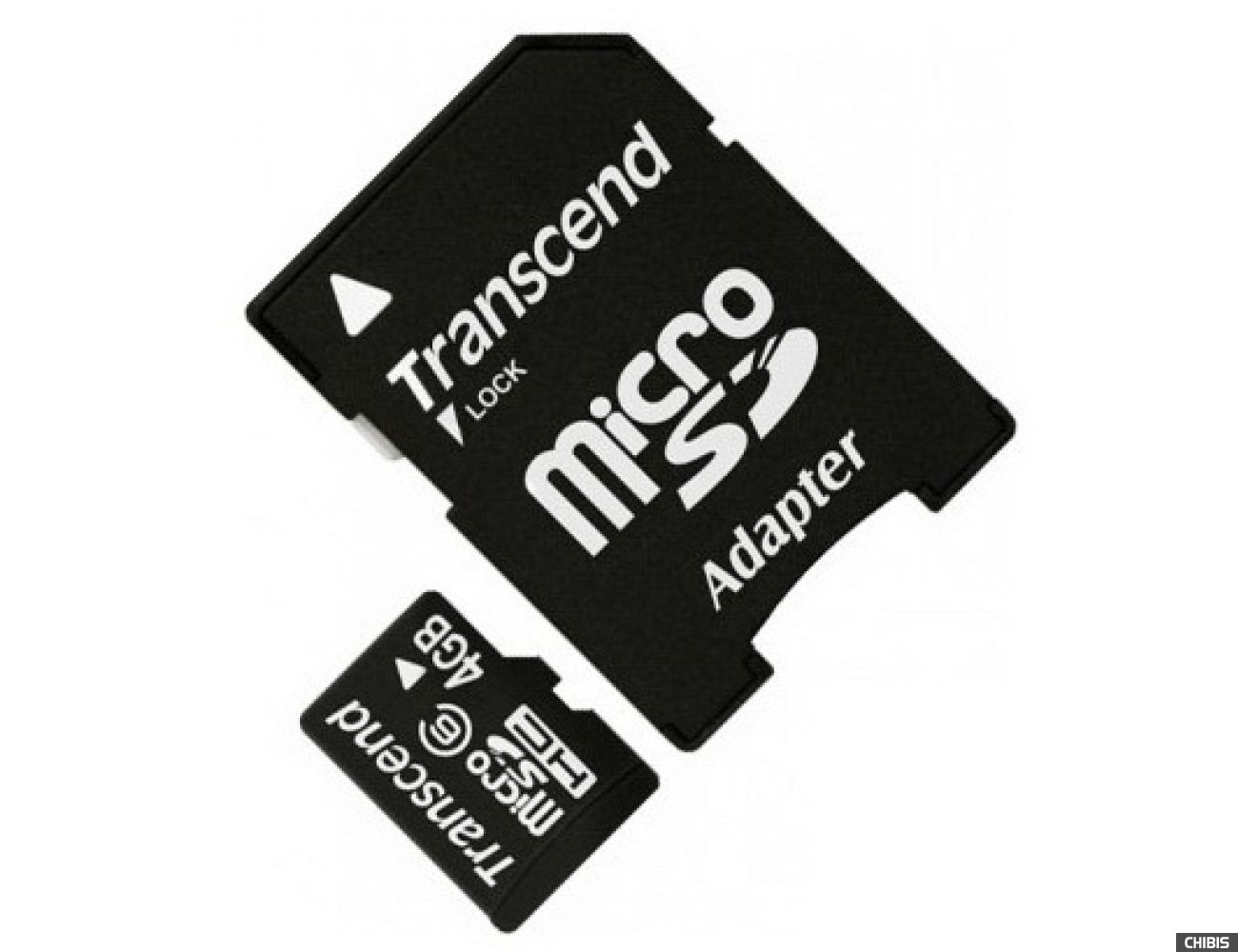 Карта памяти Transcend MicroSDHC 4Gb (Class 6)  + 2 adapters