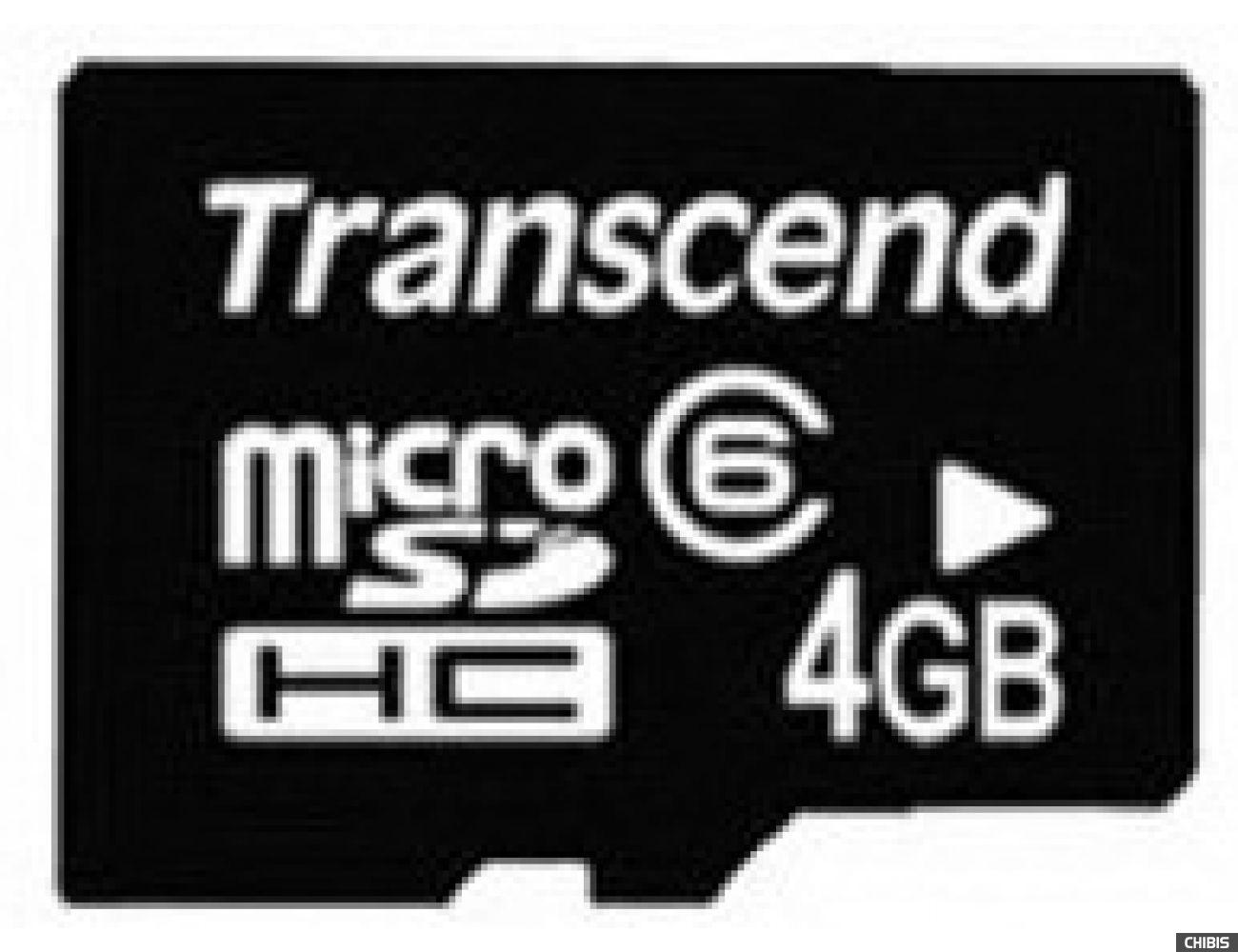 Карта памяти Transcend MicroSDHC 4Gb (Class 6) no adapter