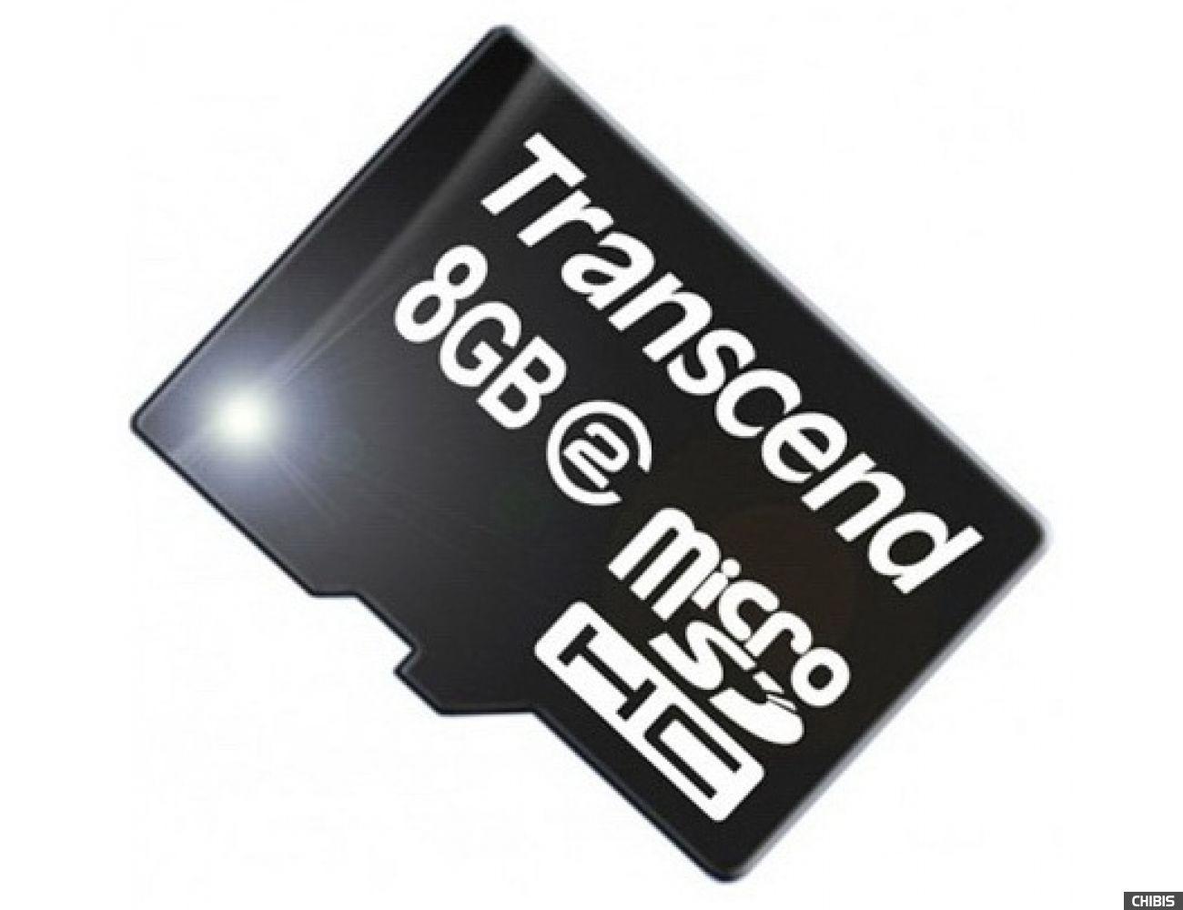 Карта памяти Transcend MicroSDHC 8Gb (Class 2) no adapter