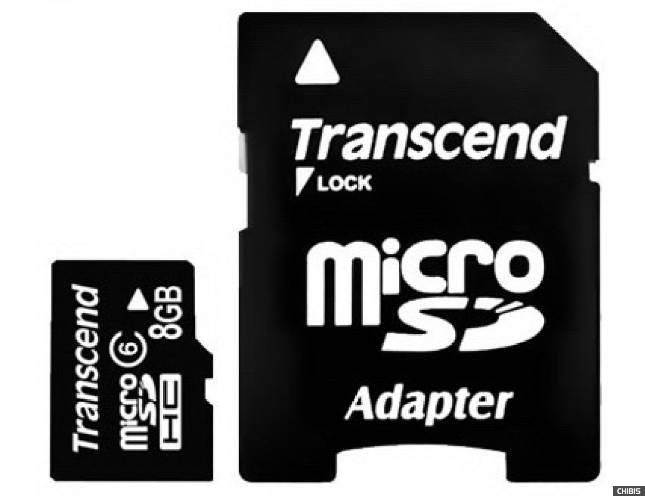 Карта памяти Transcend MicroSDHC 8Gb (Class 6) + SD адаптер