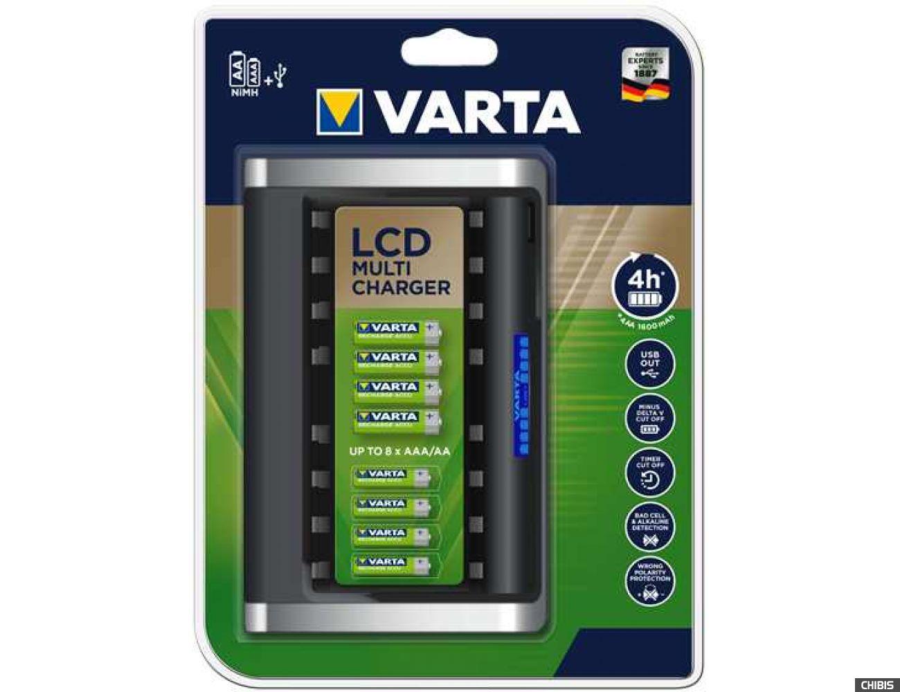 Зарядное устройство АА ААА Varta LCD Multi Charger в упаковке