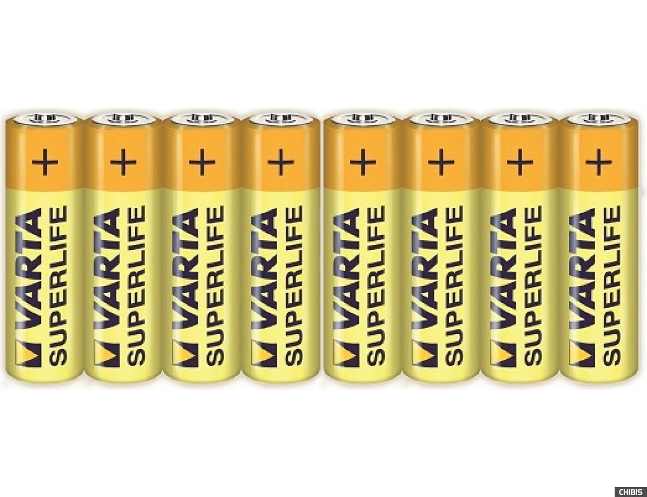 Батарейка АА Varta Superlife LR06 1.5V Цинково-угольная пленка 8/8 шт.