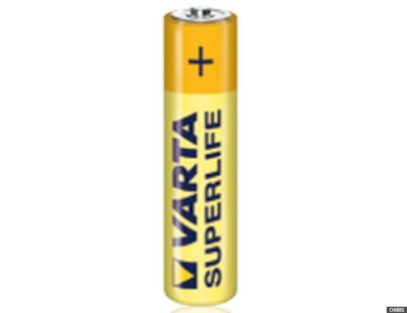 Батарейка Varta AAA Superlife (LR03, 1.5V, Цинково-угольная)