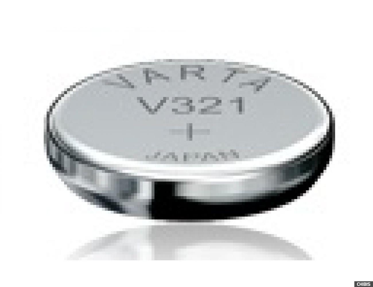 Батарейка Varta V321 (SR65, 13mAh, 1.55V, Оксид Серебра) 00321101111