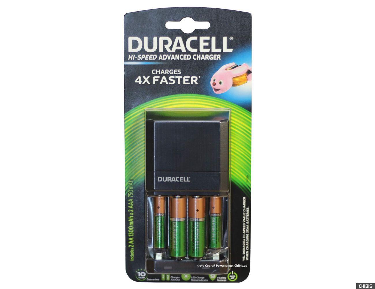 Зарядное устройство Duracell CEF27 + 2 шт AA 1300 + 2 шт AAА 750 mAh
