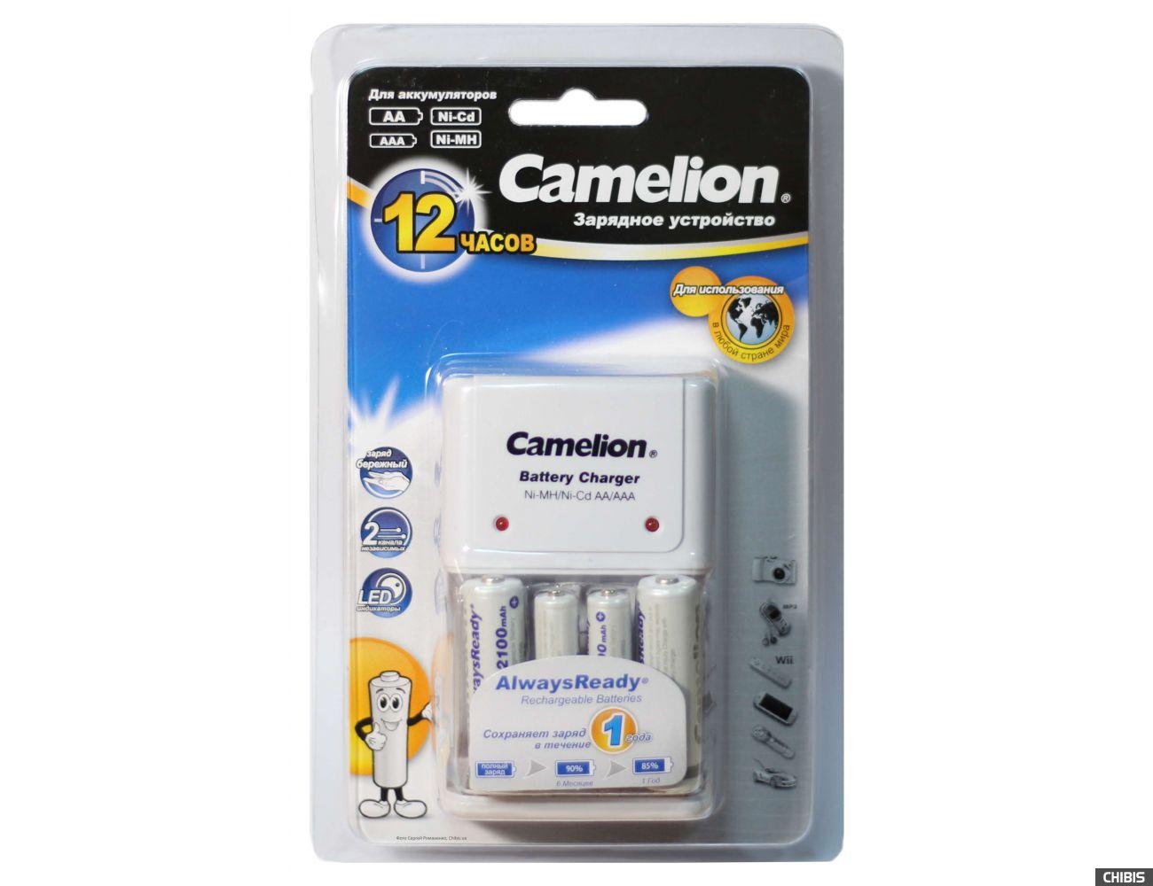 Зарядное устройство АА ААА Camelion BC-1010 + 2 AA 2100 / 2 AAA 800 mAh