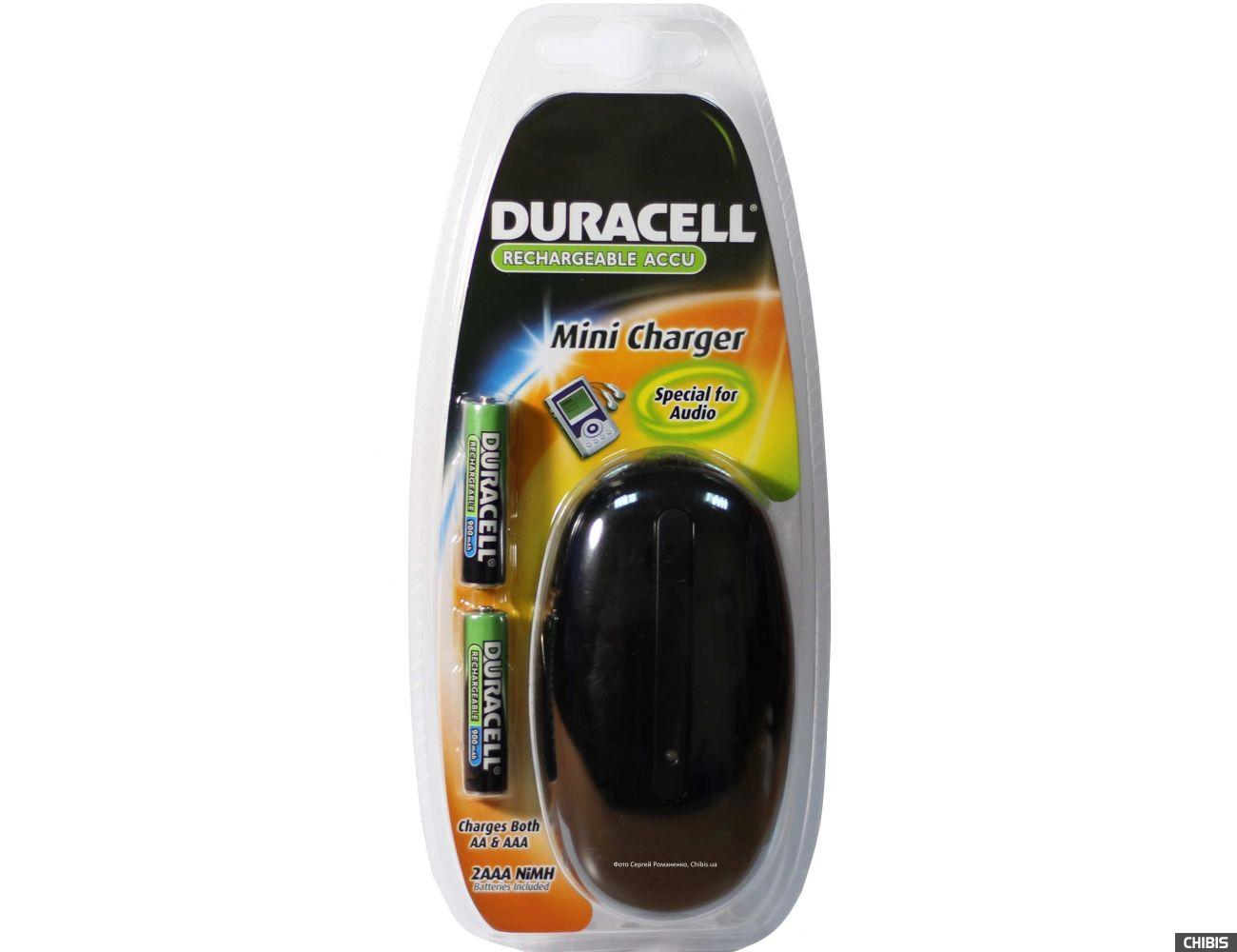 Зарядное устройство АА ААА Duraell CEF20EUA + 2 аккумулятора AAA 900 mAh