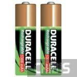 Аккумуляторные батарейки АА Duracell 1300 mAh R6, Ni-Mh, 1.2V 2/2 шт. 5000394039186