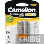 Аккумуляторные батарейки АА Camelion 2600 mAh Ni-MH 1/2 блистер