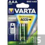 Аккумуляторные батарейки Varta ААА 800 mAh Phone 2/2 шт. T398