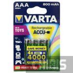 Аккумуляторные батарейки ААА Varta 800 mAh Toys Ni-Mh блистер 4/4 56783101404