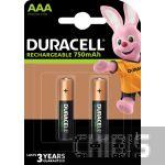 Аккумуляторные батарейки ААА Duracell 750 mAh (HR03, Ni-Mh, 1.2V) 2/2 шт. 5000394038769
