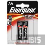 Батарейка АА Energizer Alkaline Power LR06 1.5V 1/2 шт.