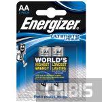 Батарейка АА Energizer Ultimate Lithium LR06 1.5V 1/2 шт.