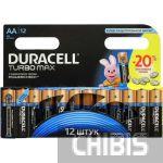 Батарейка АА Duracell Turbo Max LR06 1.5V Alkaline 1/12 шт.