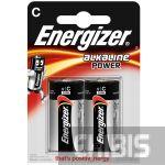 Батарейка LR14 Energizer Alkaline Power C 1.5V 1/2 шт.