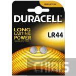 Батарейка LR44 Duracell A76 / V13GA Alkaline 1.5V 2/2 шт.