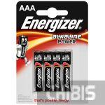 Батарейка ААА Energizer Alkaline Power LR03 1.5V 1/4 шт.