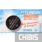 Батарейка CR2025 Hyundai 3V Lithium 1/5 шт.