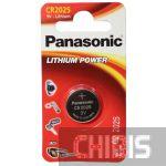 Батарейка CR 2025 Panasonic 3V Литиевая 1 шт.