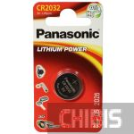 Батарейка CR2032 Panasonic 3V Литиевая 1 шт.
