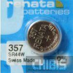 Батарейка для часов Renata SR44W (357) 1.55V Silver 1/10 шт