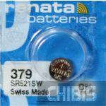Батарейка для часов Renata SR521SW (379) 1.55V Silver 1/10 шт