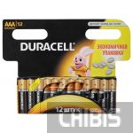 Батарейка ААА Duracell Basic LR03 1.5V Alkaline 1/12 шт.
