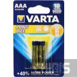 Батарейка ААА Varta Longlife LR03 1.5V Alkaline блистер 2/2 шт.