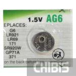 Батарейка Camelion AG6 / G6 / LR921 / LR69 / 171 / SR920W / GP71A/ 371 блистер 1/10 шт