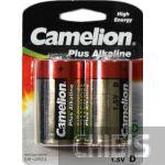 Батарейка D Camelion LR20, 1.5V, Alkaline 1/2 шт 0873999000005