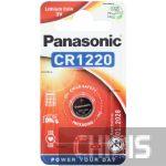 CR1220 батарейка Panasonic 3V Литиевая 1 шт.