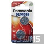 Батарейка 2032 3V Panasonic Lithium 2 шт.