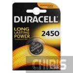 Батарейка CR2450 Duracell 3V Lithium 1 шт.